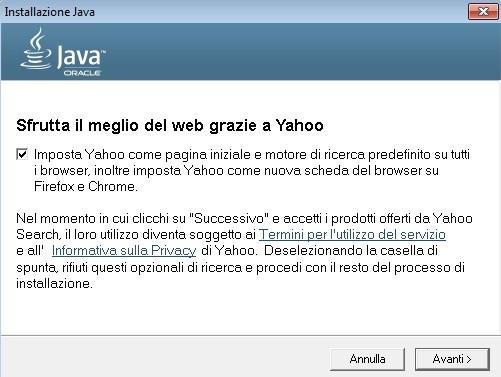 Yahoo su Java