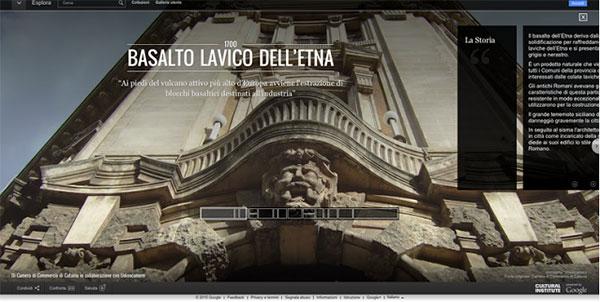 """La mostra """"Basalto Lavico dell'Etna"""" su Google Cultural Institute"""