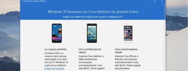 Windows 10, l'app Phone Companion
