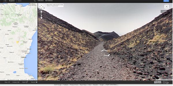 Il vulcano Etna su Street View