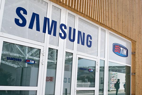 Lo spazio di TIM e Samsung che ha ospitato l'evento, presso Expo 2015