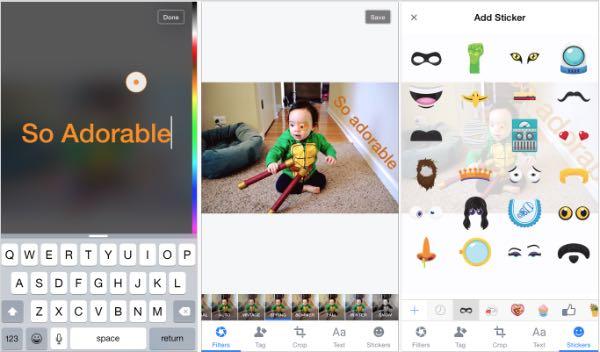 Facebook, gestione delle foto su iOS