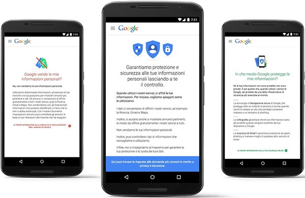 Google: le risposte su privacy e sicurezza