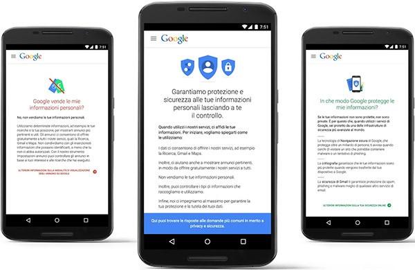 Google: le risposte su privacy e sicurezza