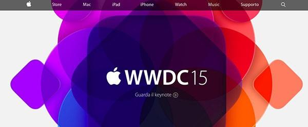 Homepage di Apple