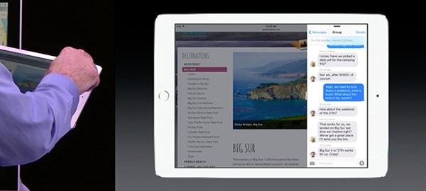 iOS 9 su iPad