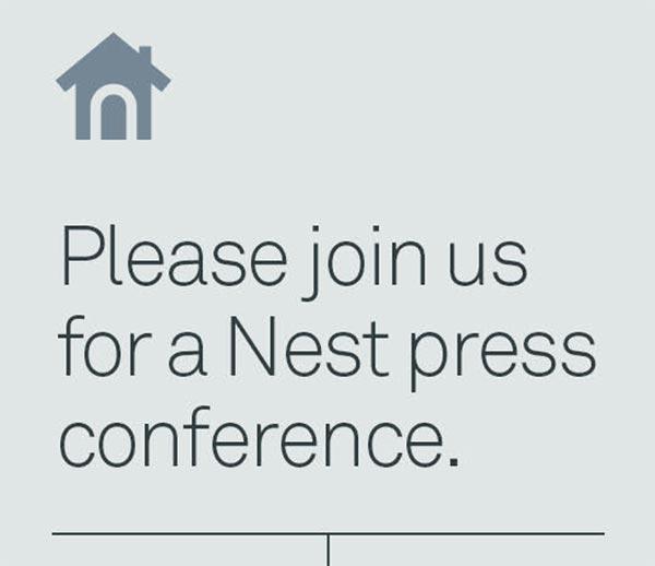 L'invito all'evento del 17 giugno spedito da Nest alla stampa