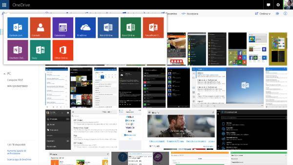 Nuovo OneDrive per il web