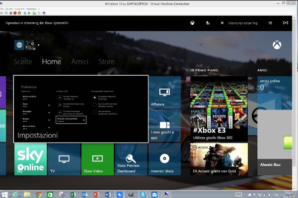 Xbox One, streaming dei giochi su Windows 10