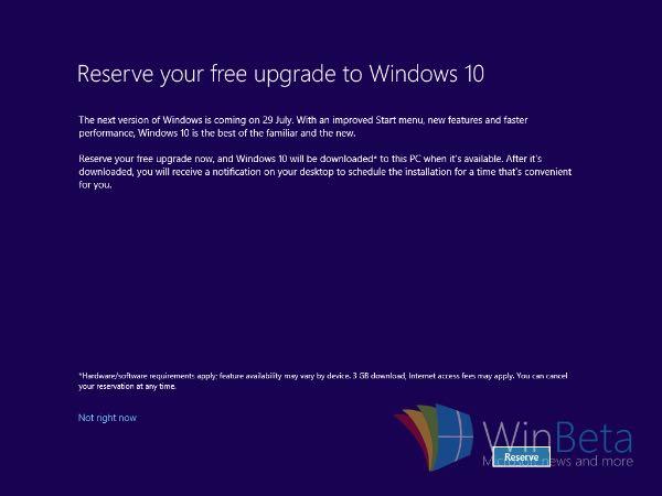 Windows 10, l'upgrade si prenota anche sui nuovi PC