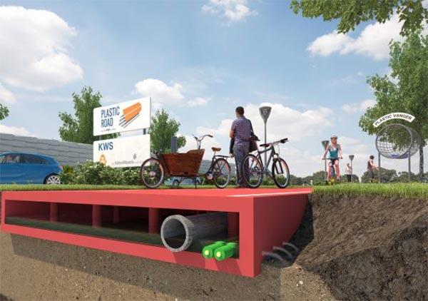 La pavimentazione stradale di VolkerWessels, realizzata con plastica riciclata
