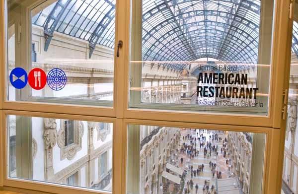 Il James Beard restaurant aperto alla Galleria di Milano, presenta ogni volta rielaborazioni della cucina americana da parte di diversi chef. Fa parte del programma del Padiglione Usa di Expo e del progetto food 2.0.