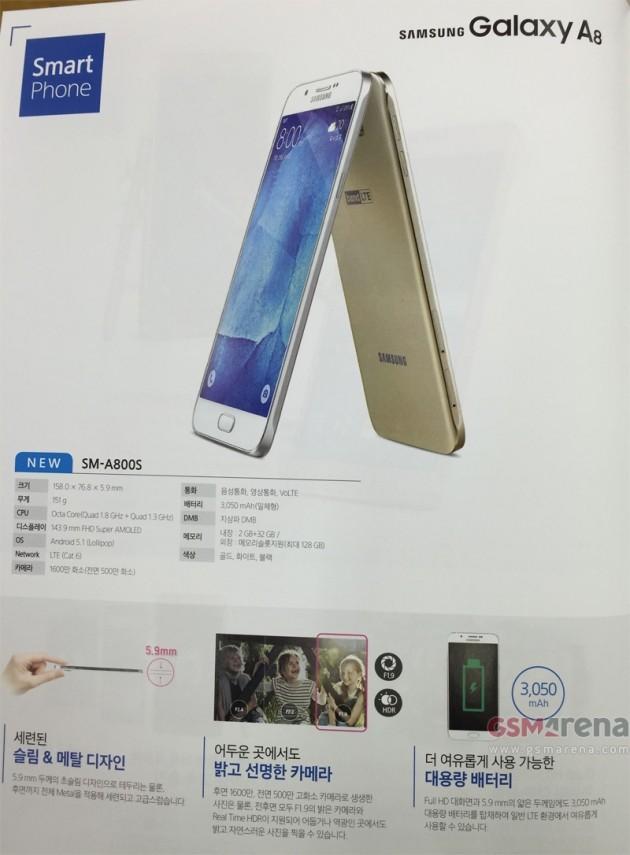 Samsung Galaxy A8 Brochure