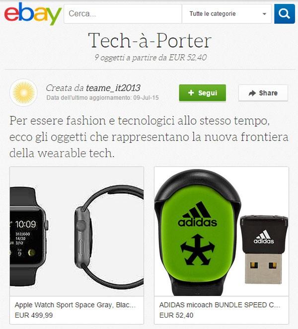 Una collezione di eBay dedicata ai dispositivi indossabili
