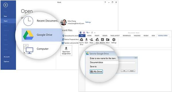 Il plug-in di Google Drive per Microsoft Office