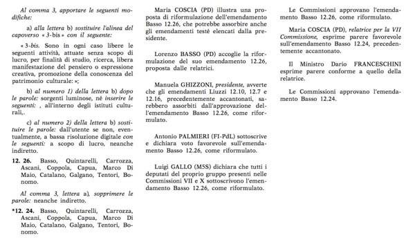 emendamenti free pan