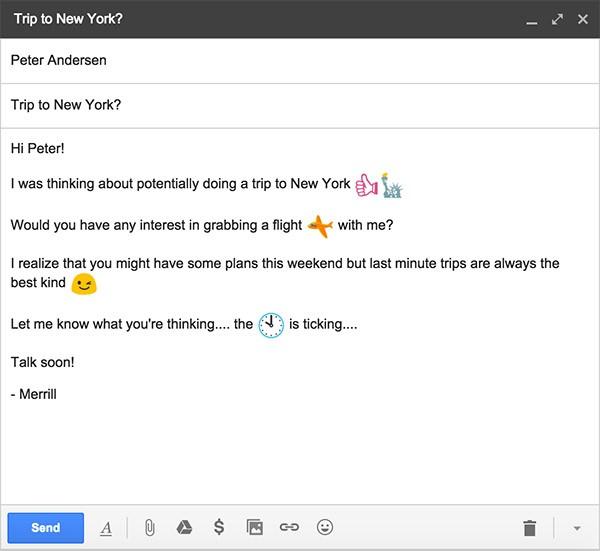 Alcuni dei nuovi emoji introdotti da Google in Gmail