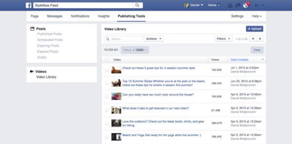 Facebook, nuova gestione dei video nelle Pagine
