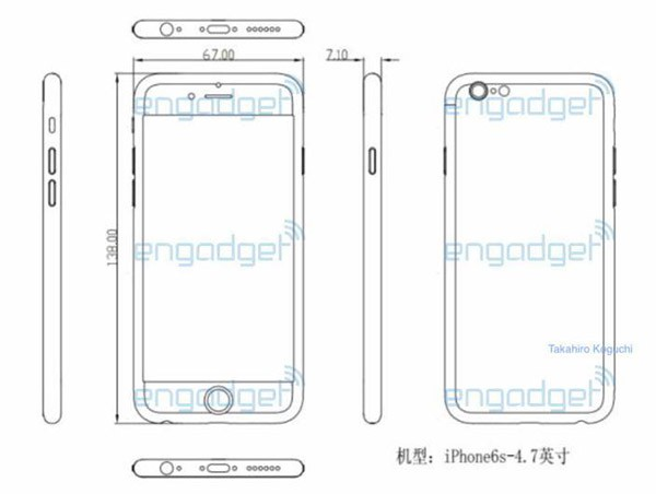 iPhone 6S, design