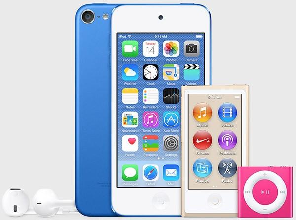 iPod, nuovi colori