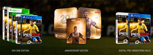 Le tre edizioni di Pro Evolution Soccer 2016