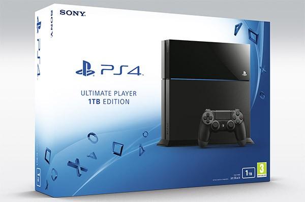 La nuova PlayStation 4 in versione Ultimate Player Edition, con disco fisso da 1 TB