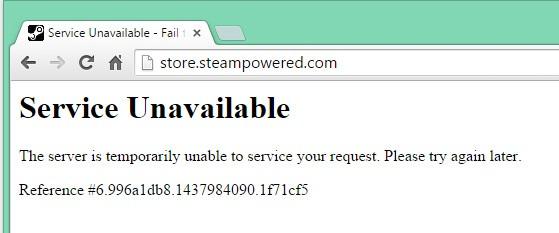 La homepage di Steam risulta irraggiungibile