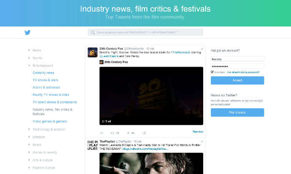 Twitter, nuova home page