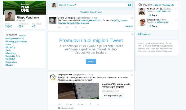 Twitter, nuovo profilo