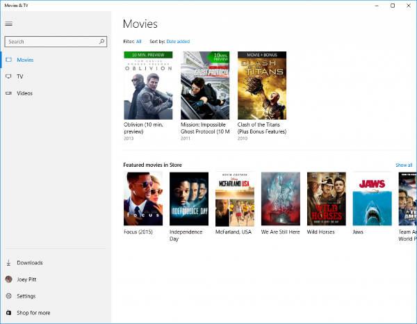 App Movies & TV