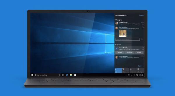 Windows 10, anteprima app messaggi