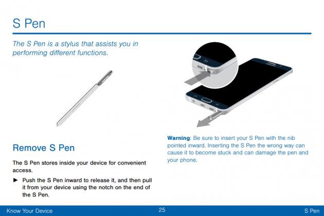 Avviso S Pen - Galaxy Note 5