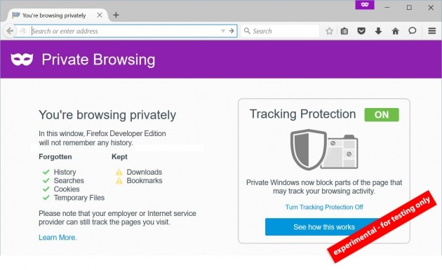 Firefox Private Browsing
