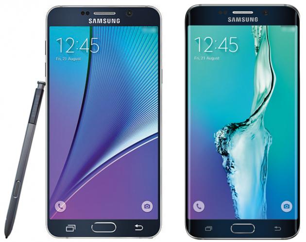 Galaxy Note 5 (sinistra) e Galaxy S6 edge+ (destra)