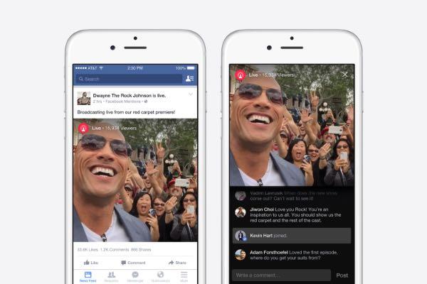 Facebook Mentions, funziona Live