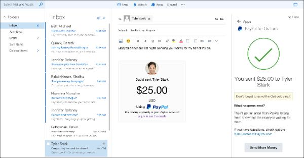 Outlook, plugin PayPal