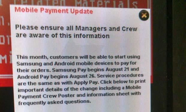 Android Pay pronto al debutto negli USA, stando ad una nota distribuita internamente ai dipendenti della catena McDonald's