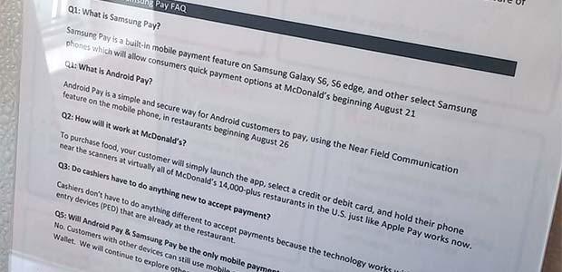 La comunicazione interna di McDonald's su Android Pay