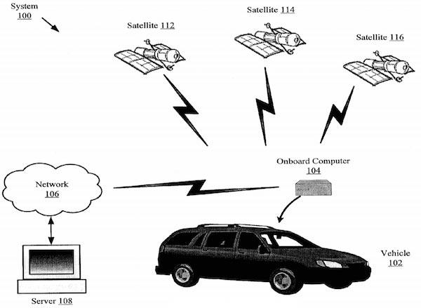 Un'immagine dal brevetto di Google