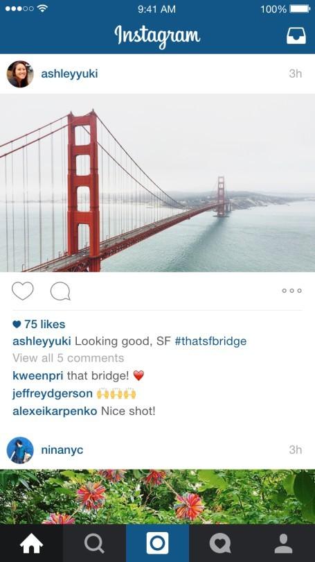Immagini landscape su Instagram: un esempio