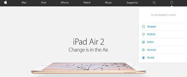 Nuovo sito Apple