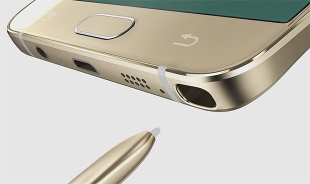 L'alloggiamento per il pennino S Pen del Galaxy Note 5