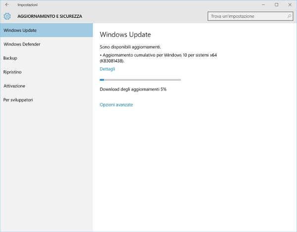 Windows 10, terzo update