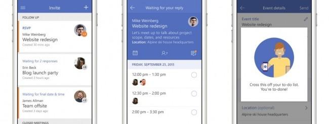 Microsoft Invite per iPhone