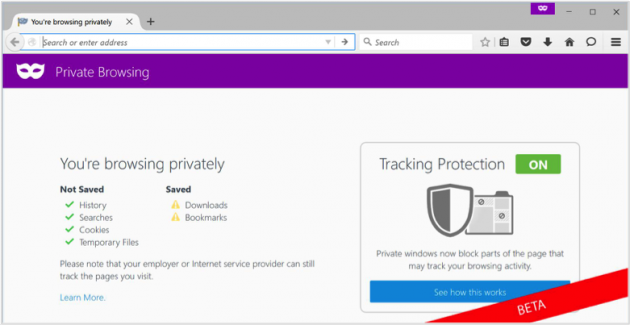 Tracking Protection - Firefox 42 Beta