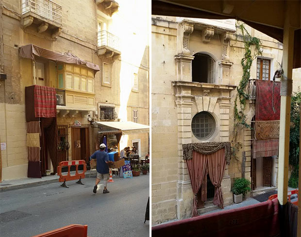 Il set a Malta per le riprese del film su Assassin's Creed