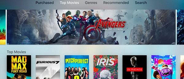 Apple TV, interfaccia