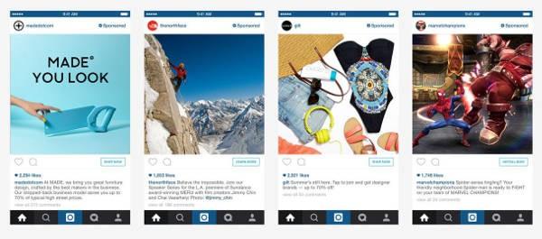Instagram: 30 secondi di pubblicità