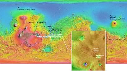 Meridiani Planum: dove l'Italia atterrerà su Marte