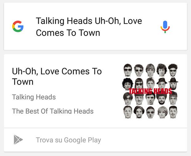Anche la ricerca vocale dei dispositivi Android è in grado di riconoscere il brano musicale ascoltato